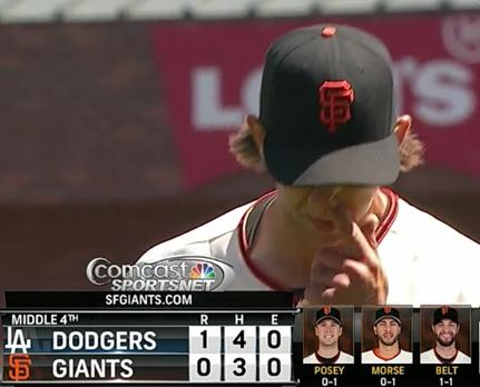 Giants-Bumgarner-Snotrocket-2014-04-17-Double-Right