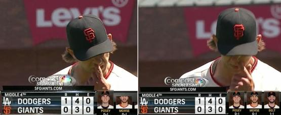 Giants-Bumgarner-Snotrocket-2014-04-17-Double