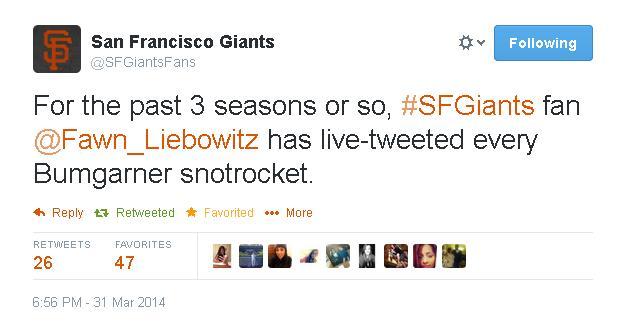 Tweets-SFGiants Fans-Snotrocket
