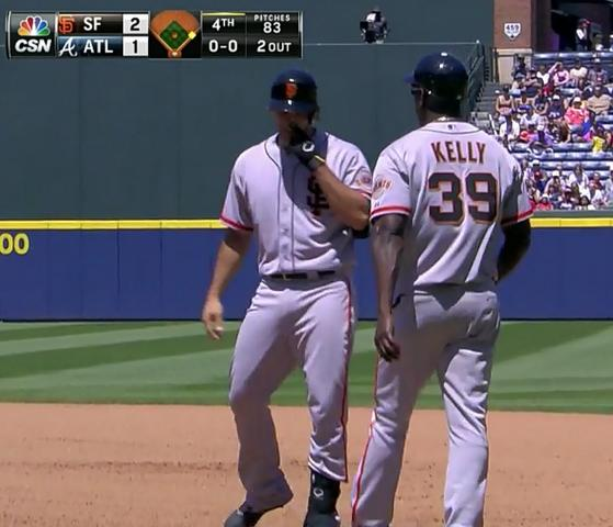 Giants-Bumgarner-Snotrocket-2014-05-04-vs Braves-On Base