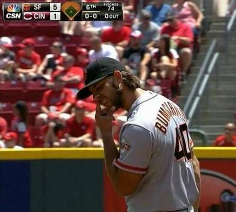 Giants-Bumgarner-Snotrocket-2014-06-05-4-Double-Left