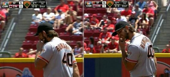 Giants-Bumgarner-Snotrocket-2014-06-05-4-Double