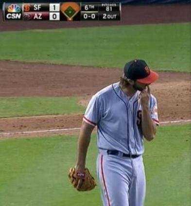 Giants-Bumgarner-Snotrocket-2014-06-22-Left