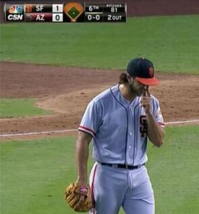 Giants-Bumgarner-Snotrocket-2014-06-22-Right