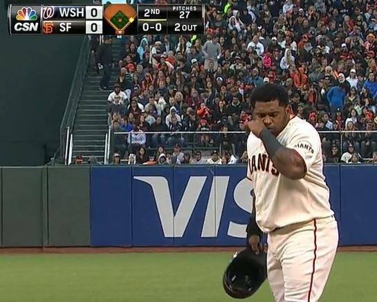 Giants-Sandoval-Snotrocket-2014-06-10