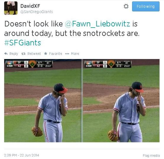 Tweets-SanDiegoGiants-Bumgarner-Snotrocket-2014-06-22
