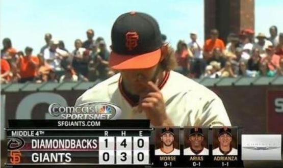 Giants-Bumgarner-Snotrocket-2014-07-13-2B