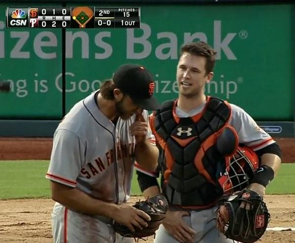 Giants-Bumgarner-Snotrocket-2014-07-23-Posey-1