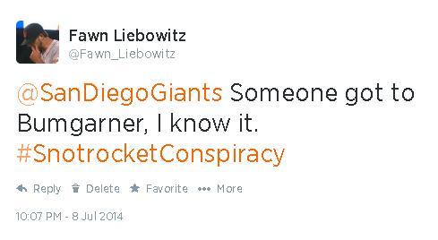 Tweets-FL-Bumgarner-Snotrocket Conspiracy