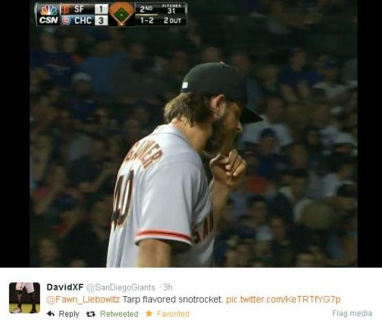 Giants-Bumgarner-Snotrocket-2014-08-21-Tweet