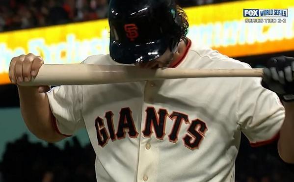 Giants-Bumgarner-Bat Bite-2014-10-26