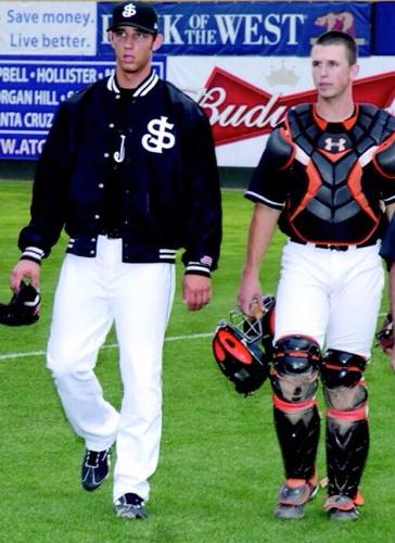 Giants-Bumgarner-Posey-San Jose-2009