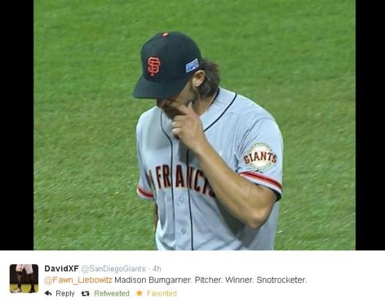 Giants-Bumgarner-Snotrocket-2014-10-01-2-Tweet