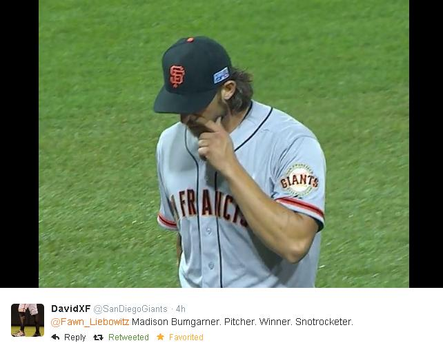 Giants-Bumgarner-Snotrocket-2014-10-01-2-Tweet