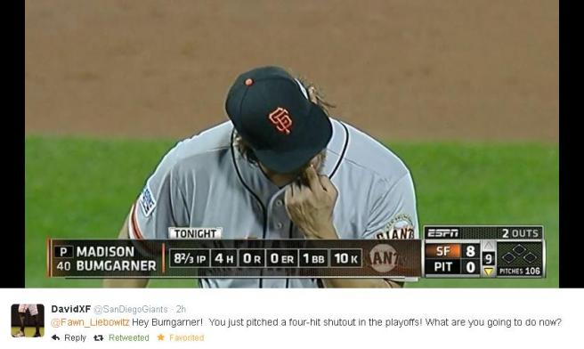 Giants-Bumgarner-Snotrocket-2014-10-4-Tweet