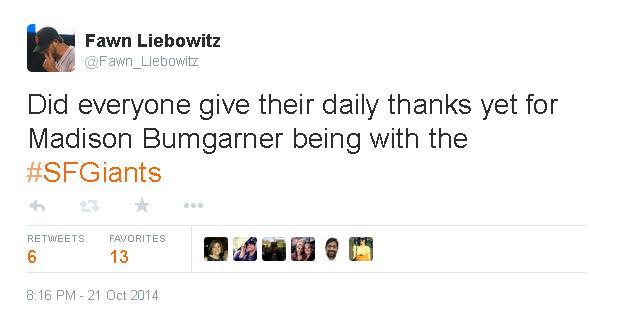 Tweets-FL-Bumgarner Daily Thanks