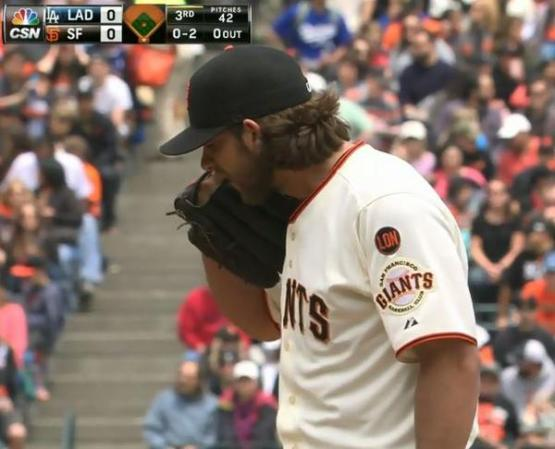 Giants-Bumgarner-Snotrocket-2015-05-21-4-Glove