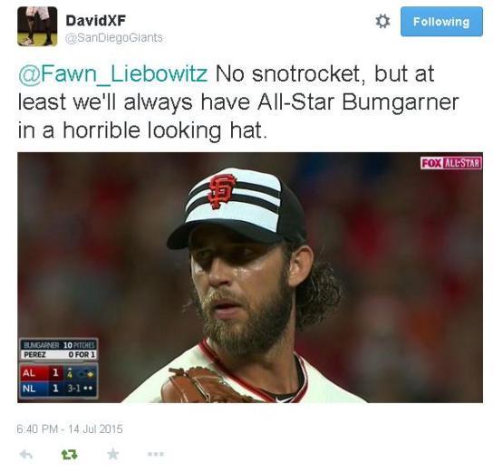 Giants-Bumgarner-Snotrocket-2015-07-14-All Star Game
