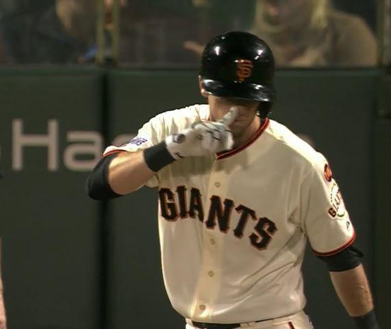 Giants-Bumgarner-Snotrocket-2015-08-11-Duffy Snotrocket