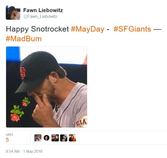 Giants-Bumgarner-Snotrocket-2016-05-01-May Day Tweet