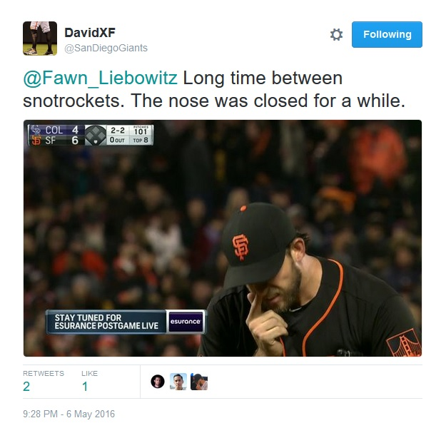 Giants-Bumgarner-Snotrocket-2016-05-06-2-Tweet
