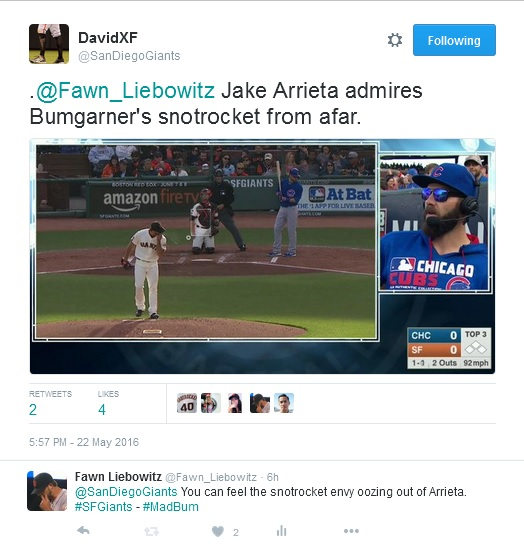Giants-Bumgarner-Snotrocket-2016-05-22-2-Tweet