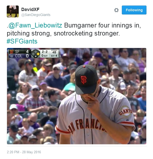 Giants-Bumgarner-Snotrocket-2016-05-28-2-Tweet