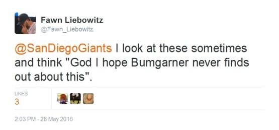 Giants-Bumgarner-Snotrocket-2016-05-28-Tweet-FL-Never Finds Out