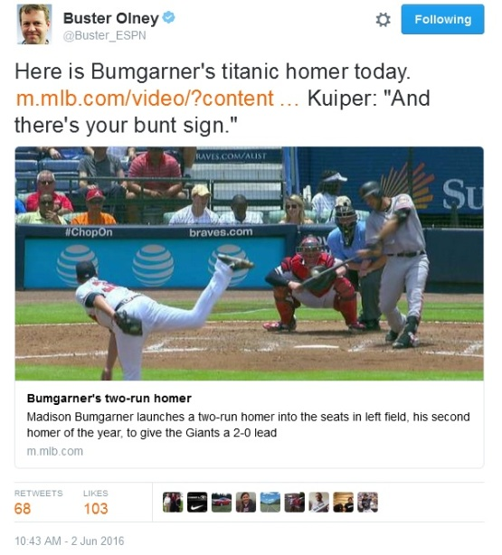 Giants-Bumgarner-Snotrocket-2016-06-02-Tweet-Buster_ESPN