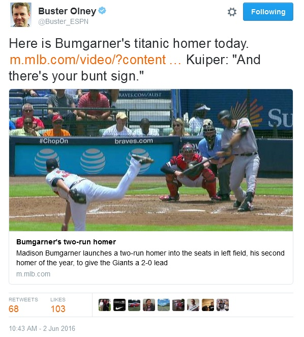 Giants-Bumgarner-Snotrocket-2016-06-02-Tweet-Buster_ESPN
