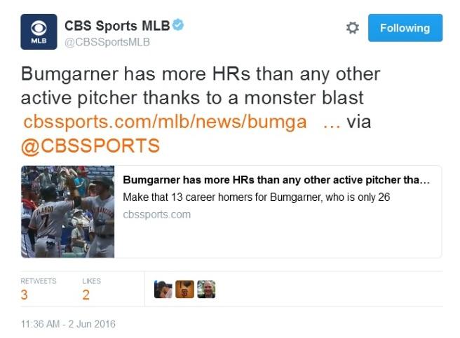 Giants-Bumgarner-Snotrocket-2016-06-02-Tweet-CBSSportsMLB