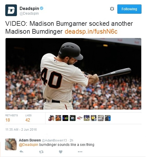 Giants-Bumgarner-Snotrocket-2016-06-02-Tweet-Deadspin-Bumdinger