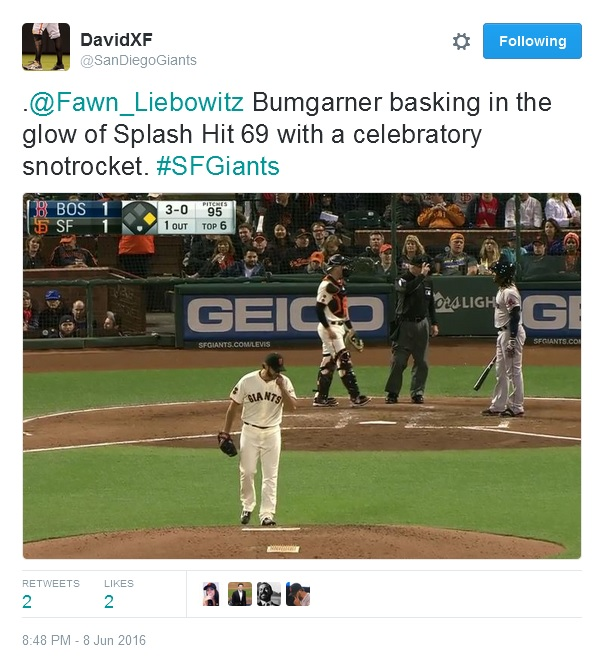 Giants-Bumgarner-Snotrocket-2016-06-08-3-Tweet