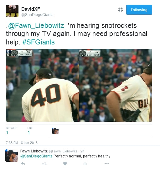 Giants-Bumgarner-Snotrocket-2016-06-08-Double-Tweet