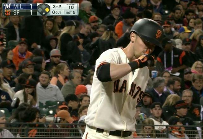 Giants-Bumgarner-Snotrocket-2016-06-14-Duffy Snotrocket