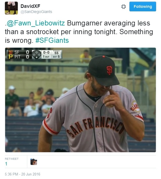 Giants-Bumgarner-Snotrocket-2016-06-20-1-Tweet