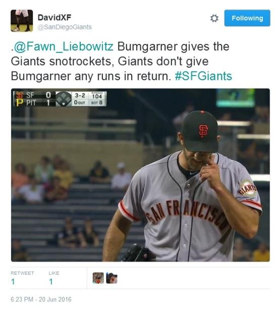 Giants-Bumgarner-Snotrocket-2016-06-20-3-Tweet