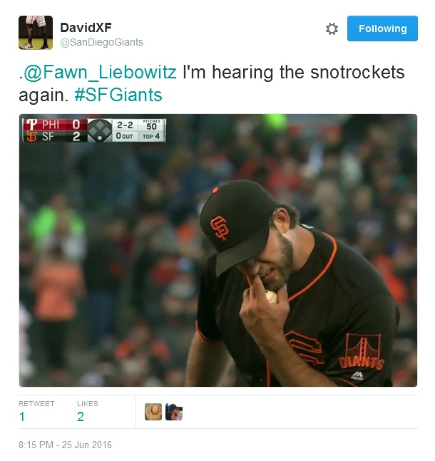 Giants-Bumgarner-Snotrocket-2016-06-25-1-Tweet