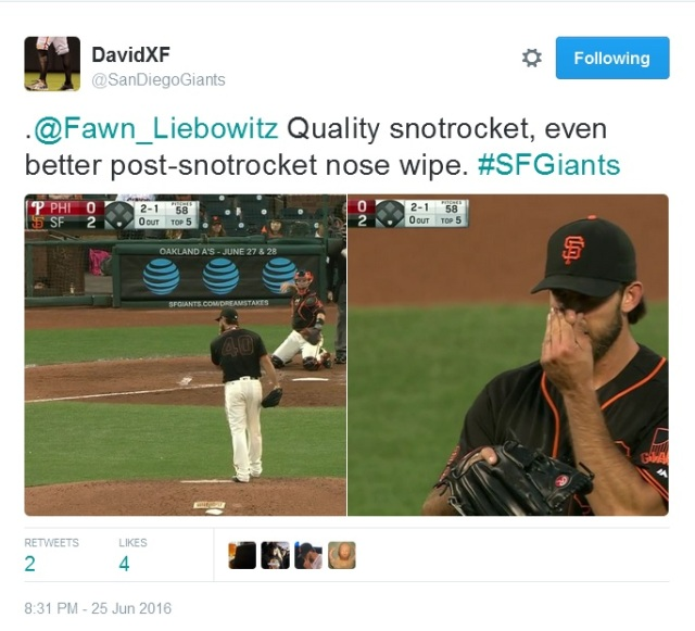 Giants-Bumgarner-Snotrocket-2016-06-25-2-Tweet