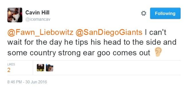 Giants-Bumgarner-Snotrocket-2016-06-30-Ear Goo-Tweet