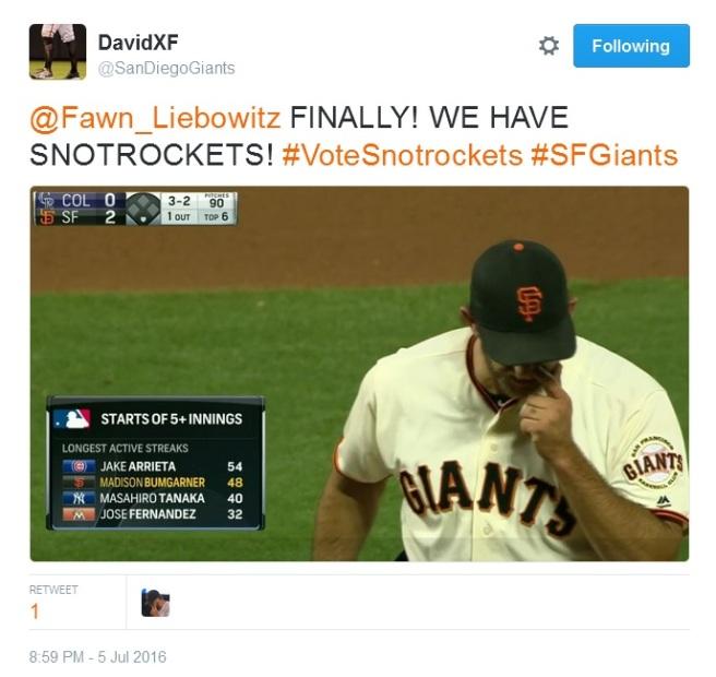 Giants-Bumgarner-Snotrocket-2016-07-05-1-Tweet