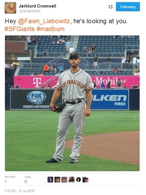 Giants-Bumgarner-Snotrocket-2016-07-15-Tweet-IAmJerklord