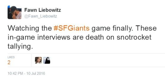 Tweets-FL-In Game Interviews