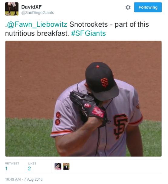 Giants-Bumgarner-Snotrocket-2016-08-07-1-Tweet