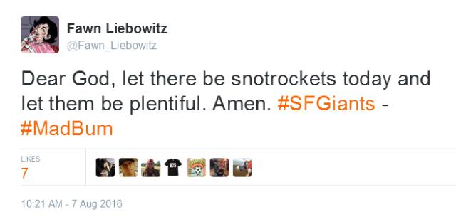Giants-Bumgarner-Snotrocket-2016-08-07-Tweet-FL