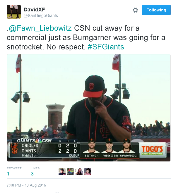 Giants-Bumgarner-Snotrocket-2016-08-13-1-Tweet-SDG
