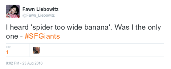 Giants-Bumgarner-Snotrocket-2016-08-23-Tweet-FL-Spider 2 Y Banana