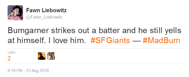 Giants-Bumgarner-Snotrocket-2016-08-23-Tweet-FL-Yells