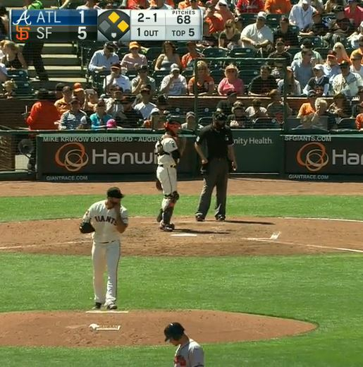 Giants-Bumgarner-Snotrocket-2016-08-28-Double-Left Nostril