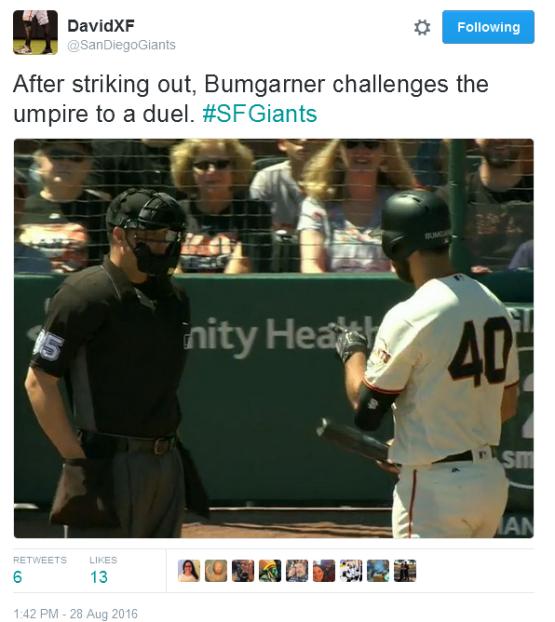 Giants-Bumgarner-Snotrocket-2016-08-28-Duel Challenge-Tweet